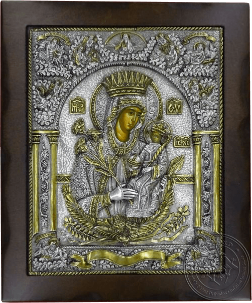 The Unwithering Rose - Silver Gold Plated Icon