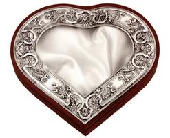 Silver Crownbox Heart Design