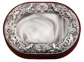 Silver Crownbox Oval Design