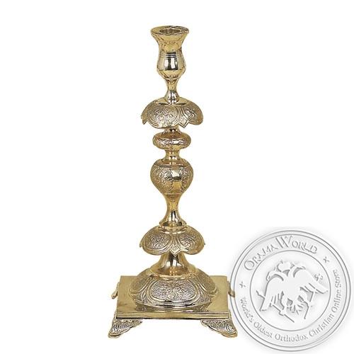 Byzantine Brass Holy Table Candlestick