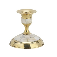 Byzantine Brass with Ivory Holy Table Candlestick