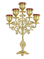 Five-Vigil Candle Molten Gold Plated