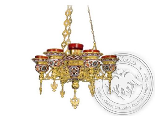 Seven-Vigil Candle Byzantine Design Enamel