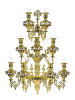 Aplice Athonite Bronze No9 Enamel Gold Plated