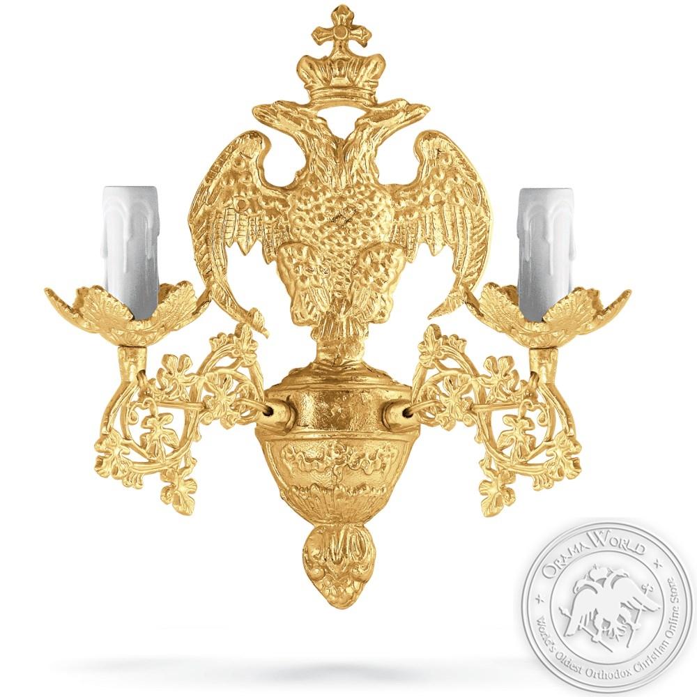 Aplice Aluminium No2 Gold Plated - 2 Lights