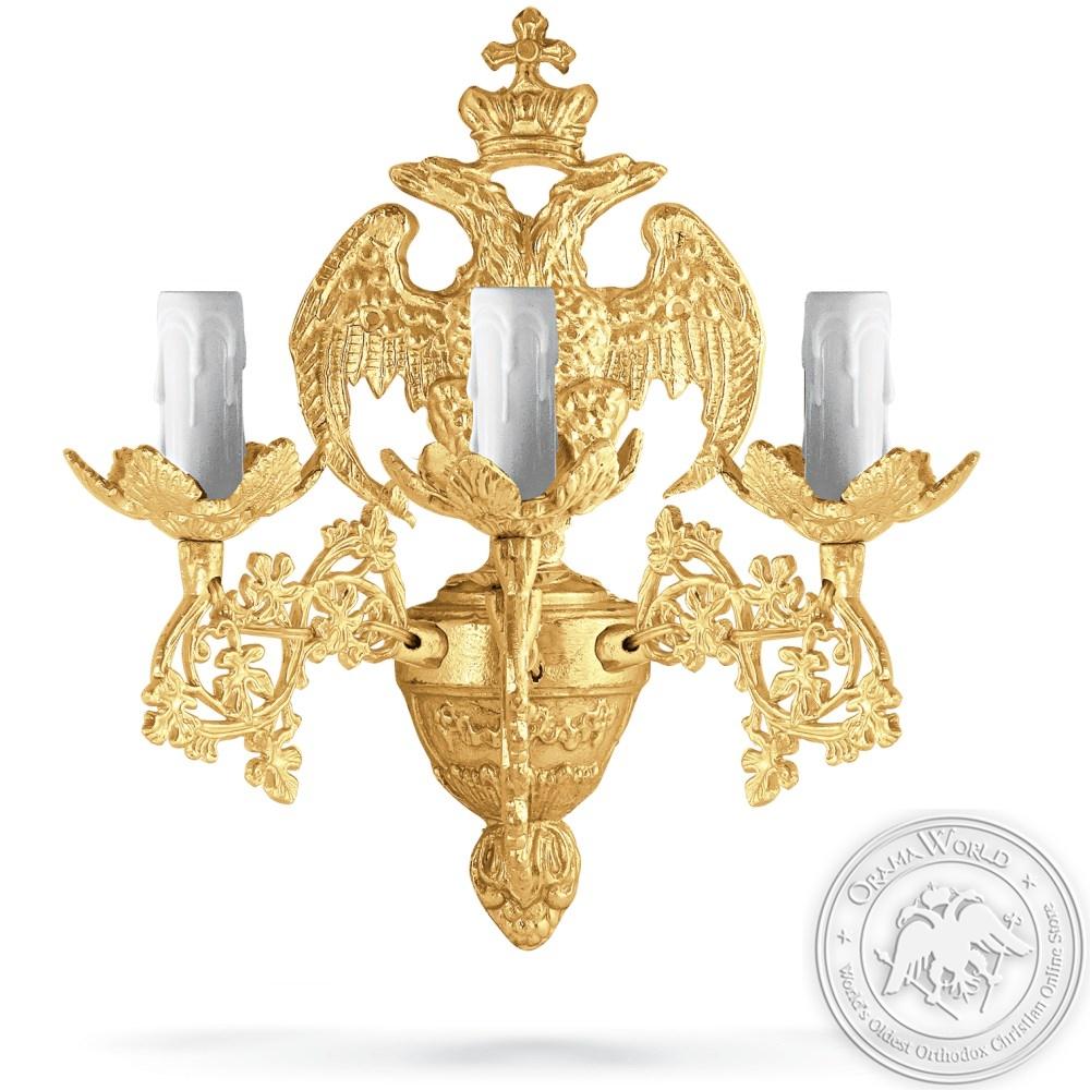 Aplice Aluminium No3 Gold Plated - 3 Lights