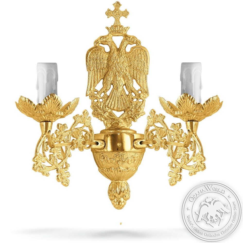 Aplice Bronze No2 Gold Plated - 2 Lights