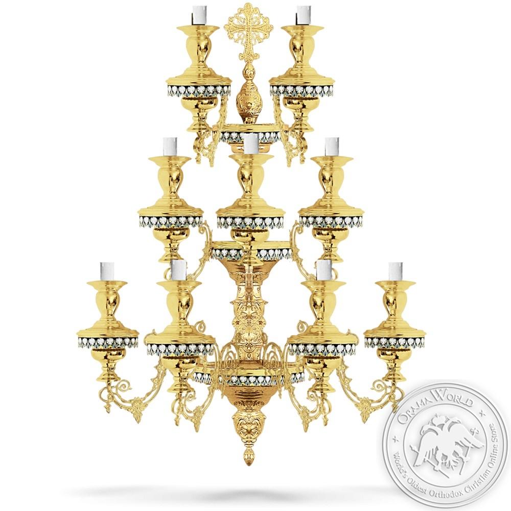 Bronze Aplice Enamel Gold Plated - 9 Lights