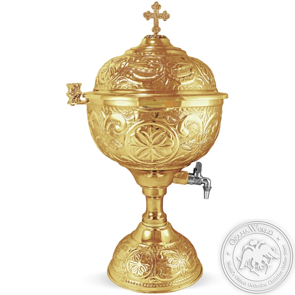 Holy Water Font Gold Plated