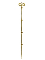 Bishop Crosier Gold Plated