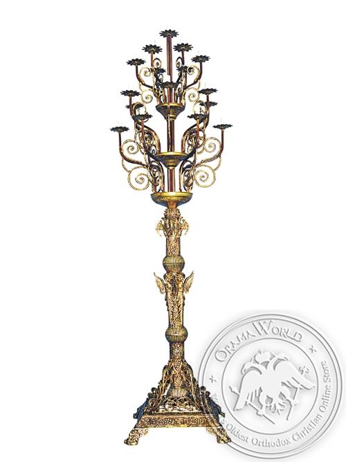 Despotic Candelabrum Aluminium No19 Gold Plated