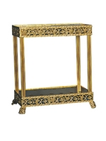 Icon Stand For Candle Aluminium A Gold Plated