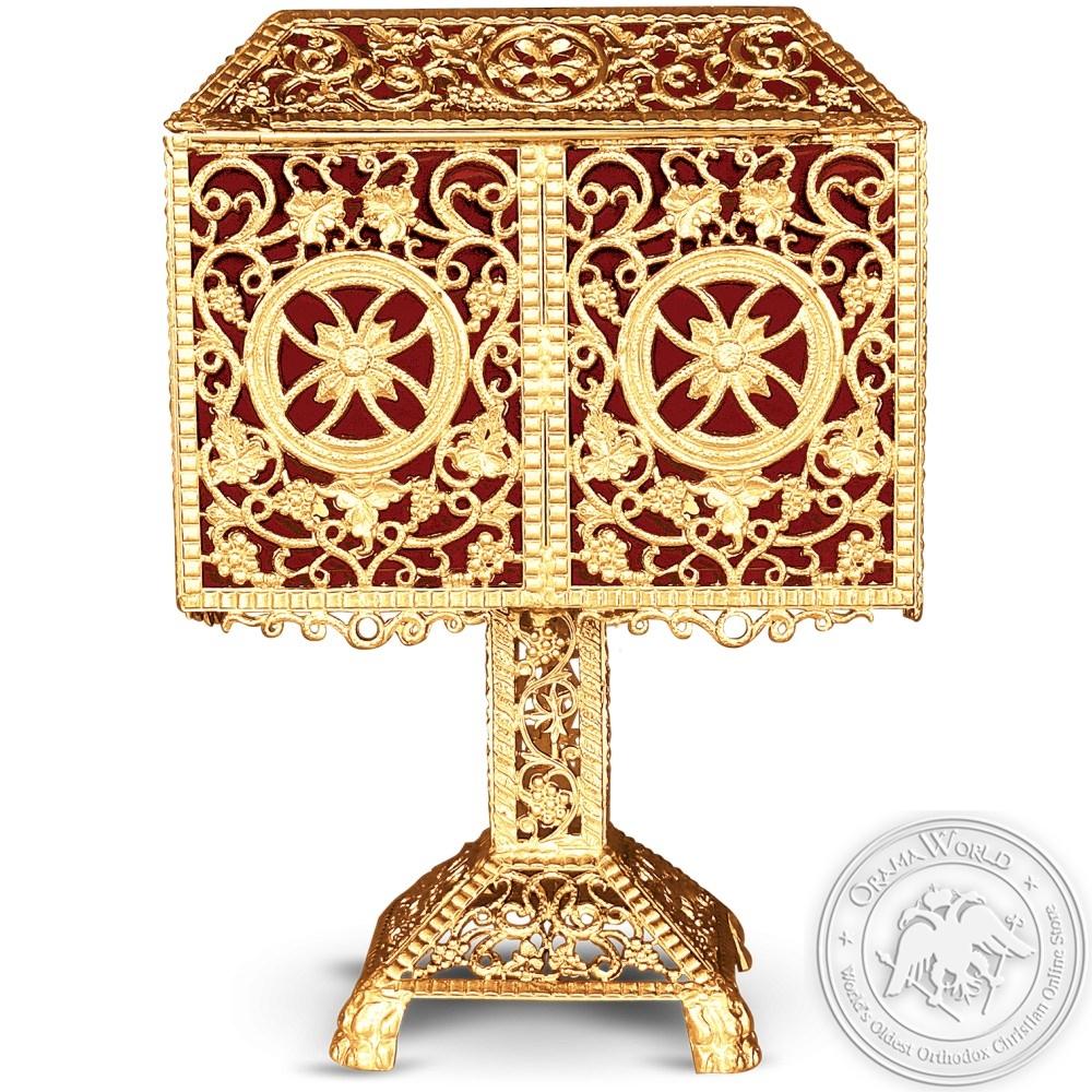 Used Candle Box Aluminium Gold Plated