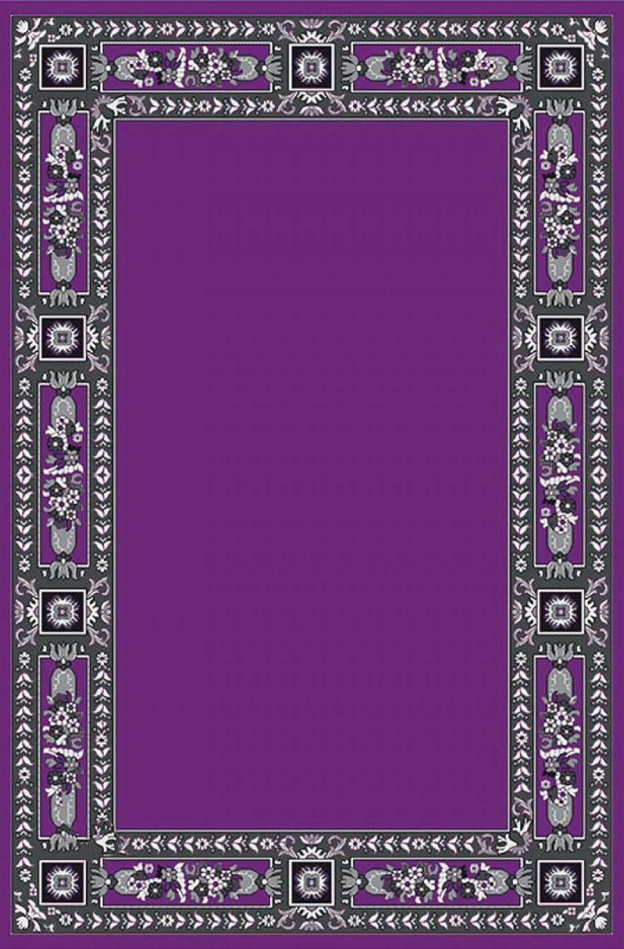 Classic Ecclesiastical Carpet with Decoration in Purple Color