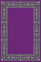 Classic Ecclesiastical Carpet with Decoration in Purple Color