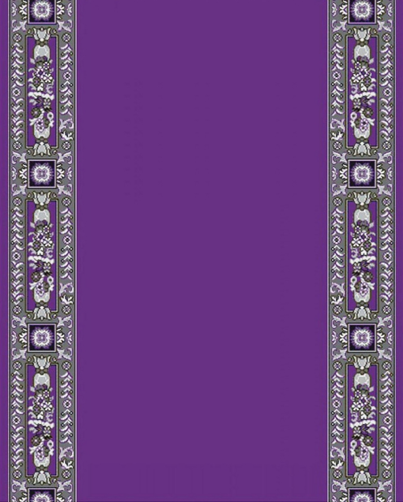 Ecclesiastical Corridor with Decoration in Purple Color