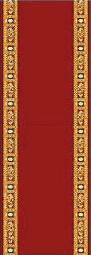 Ecclesiastical Corridor with Decoration in Red Color