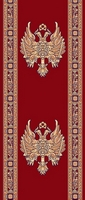 Ecclesiastical Corridor with Russian Double-headed Eagle in Red Color