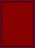 Rectangular Ecclesiastical Carpet with Meander in Red Color
