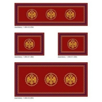 Set of Ecclesiastical Carpets for the Altar with Double-headed Eagles in Red Color