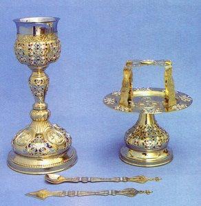 Chalice Set Byzantine Style Motives Design A
