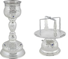 Chalice Set with Blue Stones 250ml - 0308