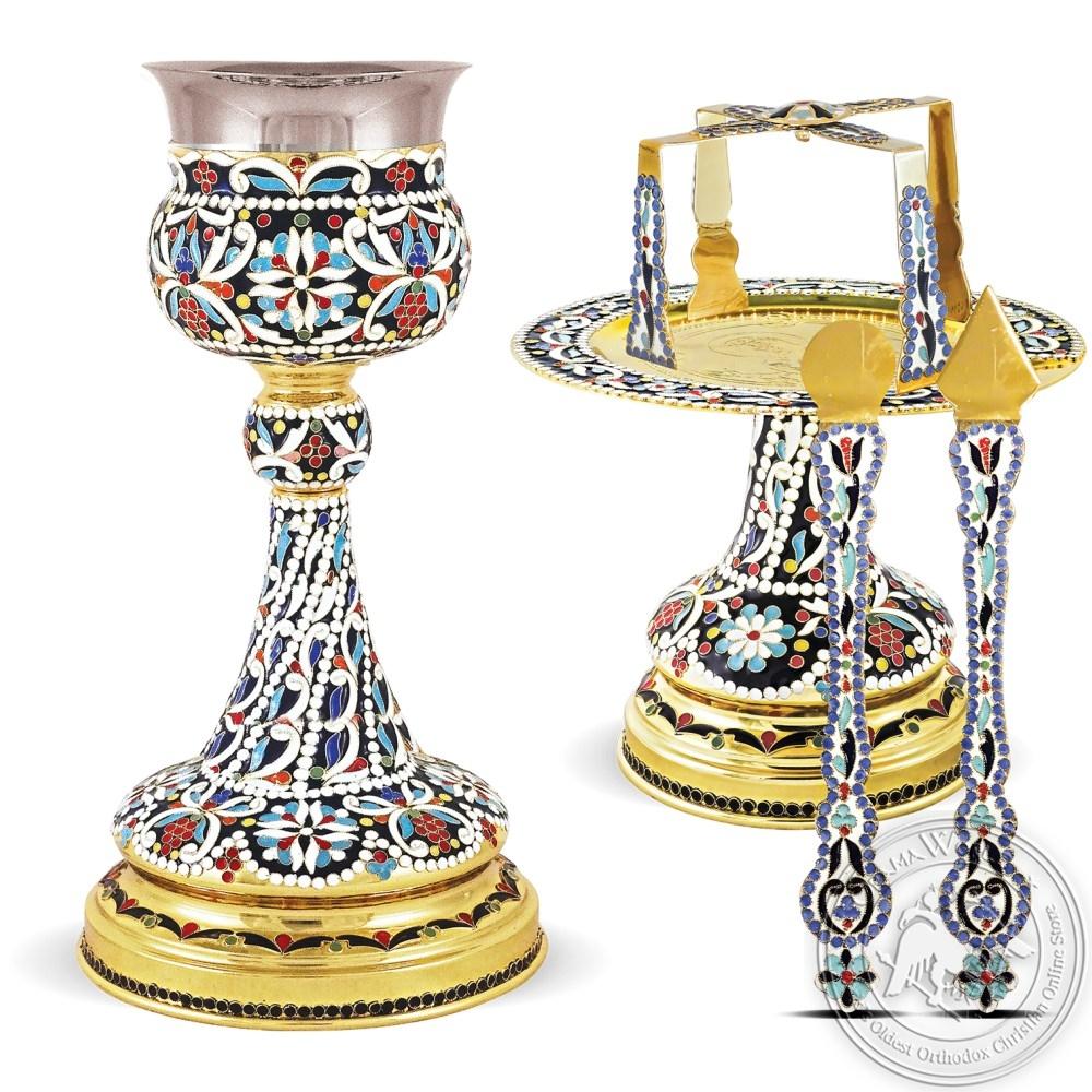 Chalise Set Enamel Byzantine