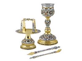 Chalice Set Byzantine Design A Enamel