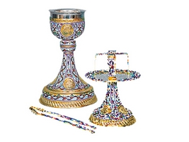 Chalice Set Mount Athos Design A Enamel