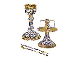 Chalice Set Mount Athos Design C Enamel
