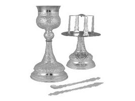 Chalice Ste Byzantine Design A Silver Plated