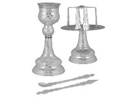 Chalice Ste Byzantine Design C Silver Plated