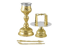 Chalice Set Byzantine Design C Gold Plated