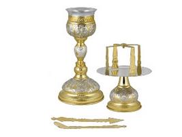 Chalise Set Byzantine Design B Two Colours