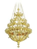 Chandelier Aluminium Byzantine No120 Gold Plated