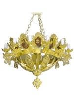 Chandelier Aluminium Byzantine No13 Gold Plated