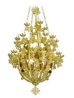 Chandelier Aluminium Byzantine No40 Gold Plated