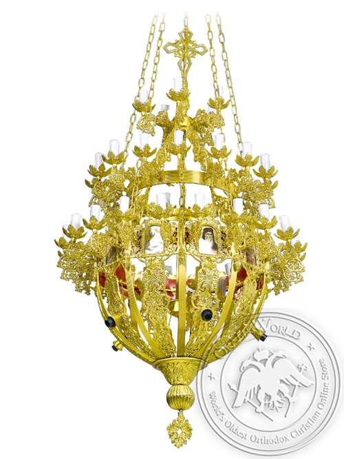 Chandelier Aluminium Byzantine No50 Gold Plated
