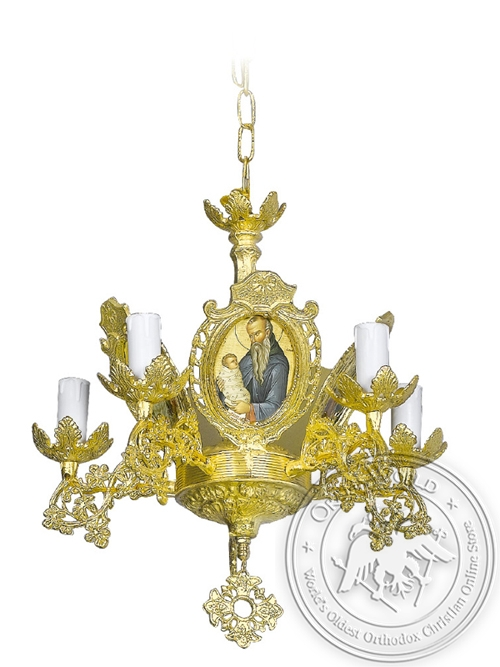Chandelier Aluminium Byzantine No5 Gold Plated
