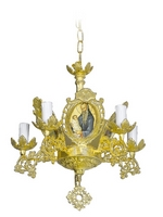 Chandelier Aluminium Byzantine No5 Gold Plated