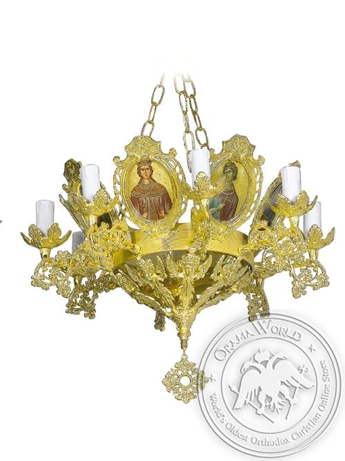 Chandelier Aluminium Byzantine No9 Gold Plated
