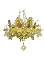 Chandelier Aluminium Byzantine No9 Gold Plated