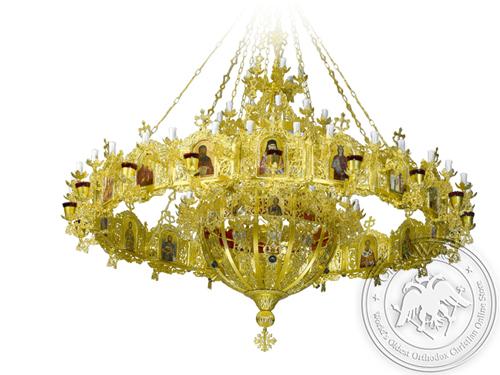 Chandelier Aluminium Byzantine & Choros No134 Gold Plated