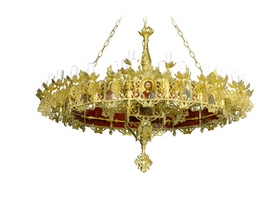 Chandelier Aluminium Byzantine & Choros No43 Gold Plated