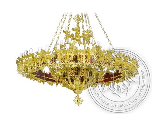Chandelier Aluminium Byzantine & Choros No67 Gold Plated