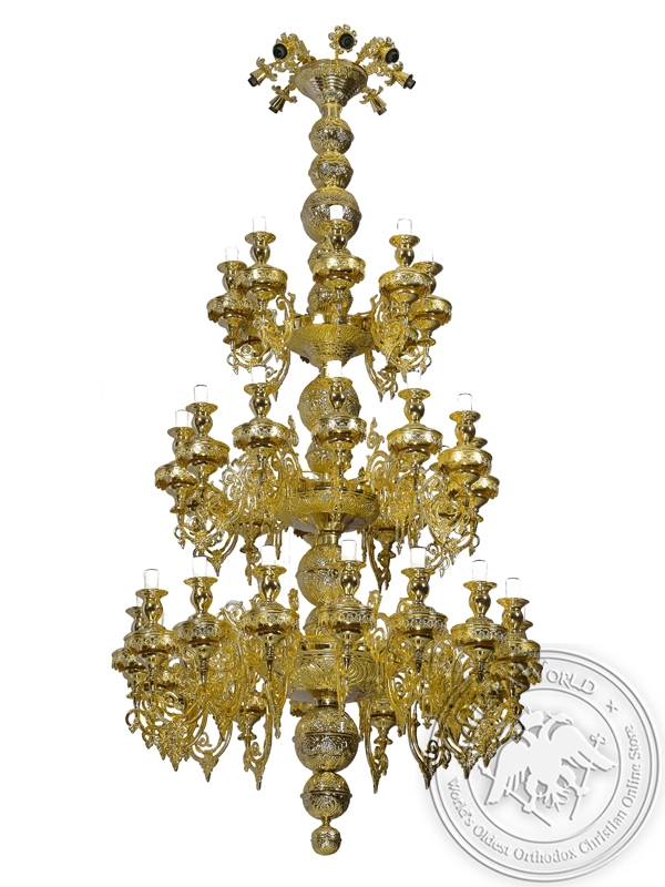 Chandelier Athonite Bronze No44 Gold Plated