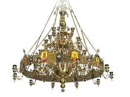 Chandelier Bronze And Choros No138 Gold Plated