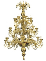 Chandelier Bronze Athonite No102 Gold Plated
