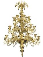 Chandelier Bronze Athonite No102 Gold Plated