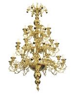 Chandelier Bronze Athonite No68 Gold Plated